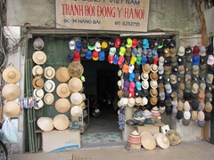 Souvenir hat store; downtown Hanoi