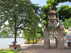 Pathway around Hoan Kiem Lake