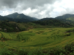 Panorama of the stunning Sapa scenery