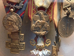 French medals taken from a POW; Hanoi Military Museum