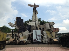 Remains of a Hellcat Plane given to French troops by the US. It was shot down in the Dien Bien Phu campgains of 1954