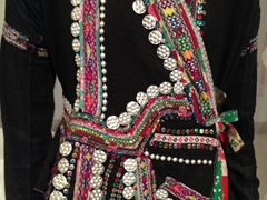 Detail of an ethnic minority traditional outfit; Women's Museum