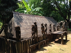 Giarai Tomb on display at the Ethnology Museum