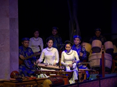 Performers at Thang Long water puppet theater