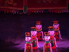 Detail of water puppets; Thang Long theater in Hanoi
