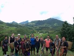 Group photo in Sapa