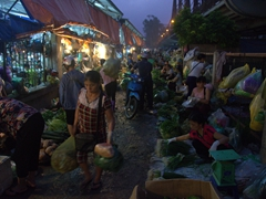 Hanoi never sleeps - this market is in full swing at the wee hours of the morning; Long Bien