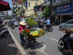 Flower seller in Hanoi