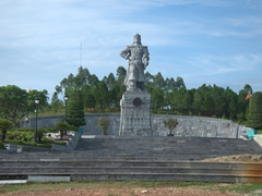 Warrior statue near Hue