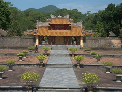 Courtyard of Minh Mang Tomb; Hue