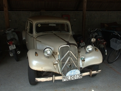 Antique car on display at Beach Bar Hue