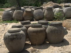 Fermented fish sauce containers; Hue