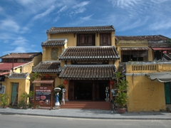 Typical architecture seen in Hoi An's ancient town