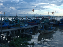 Boats galore at Cua Dai Fishing village