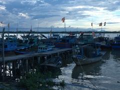 Boats galore at Cua Dai Fishing village