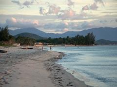Early morning beach scene; Ninh Phuoc