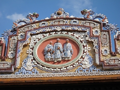 Ceramic detail of the Imperial City in Hue