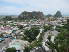 View from the top of Marble Mountain, a cluster of 5 marble and limestone hills