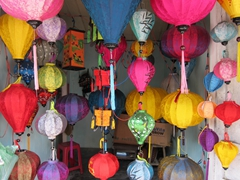 Famous for its hand made lanterns, shops like this abound in pretty Hoi An
