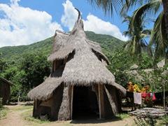 Elephant shaped beach shack; Jungle Beach