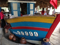 Restaurant boat at Beach Bar Hue