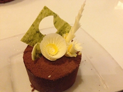 Chocolate truffle at the Cargo Club in Hoi An - a spectacular dessert!