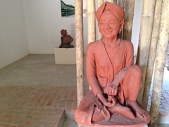 Statue on display at Thanh Ha Terracotta Park