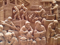 Intricate detail at the Thanh Ha Terracotta Museum
