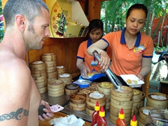 Ordering dim sum; Dam Sen waterpark