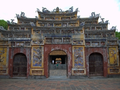 Forbidden City Gate at the Imperial City in Hue