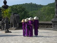 Domestic tourists visiting Khai Thanh Royal Tomb
