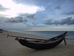 Fishing boat at Beach Bar Hue