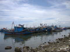 Fishing boat fleet; Da Nang