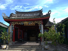 One of several temples tucked away in quaint Hoi An