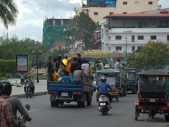 Be careful crossing the road in Phnom Penh as pedestrians are not given the right of way!