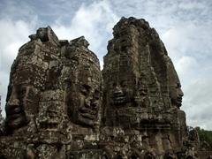 4 of the 216 gigantic faces on Prasat Bayon; Angkor Thom