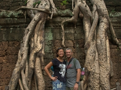 Striking a pose at Ta Prohm