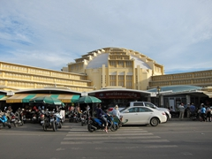 Central market, built in 1937 and one of the few colonial-era buildings still standing in Phnom Penh