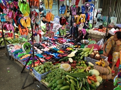 Flip flops and vegetables - everything for sale at the old market!