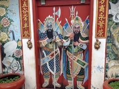 Temple doors; Battambang