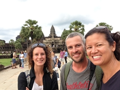 Reunion with Katerine after 5 years! Selfie time at Angkor Wat!
