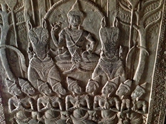 Bas-relief frieze carved into the inner gallery of Angkor Wat