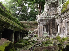 An abandoned section of Ta Prohm
