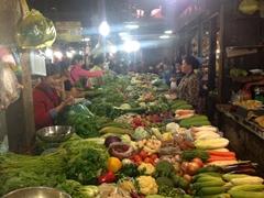 Siem Reap market scene