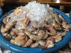 Fresh shrimp at the Siem Reap market