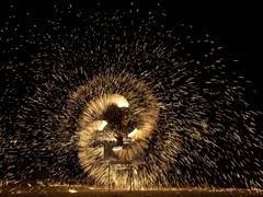 Fire dancing show; Lamai