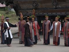 Batak performers; Museum Huta Bolon Simanindo