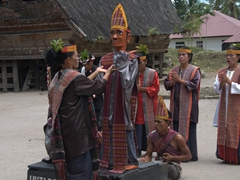 Si Gale-Gale (a wooden puppet used in a funeral dance performance of the Batak people); Samosir Island
