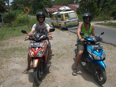 The boys are back in town - getting ready to scooter our way around Samosir Island
