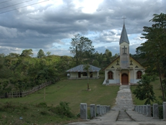 A welcoming church on the south side of Samosir Island